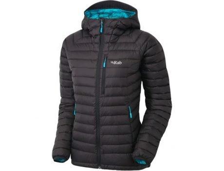 Rab Ladies Microlight Alpine Jacket - Black/seaglass