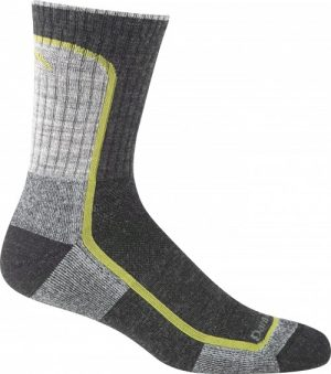 Darn Tough Mens Light Hiking Micro Crew - Charcoal/lime
