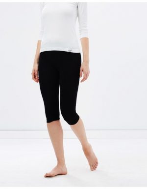 Boody Womens Cropped Leggings black