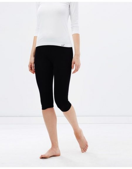 Boody Womens Cropped Leggings black