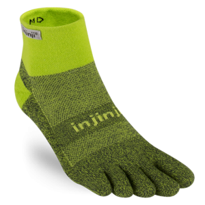 Injinji Trail Mini Crew - Winter Green