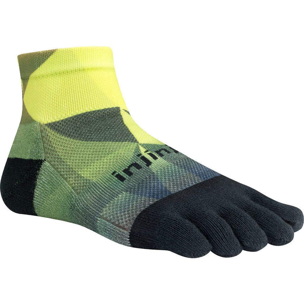 Injinji Run MW Mini Crew - Lime black