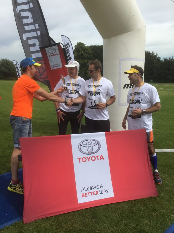 Presenting prizes at the Shere 42k