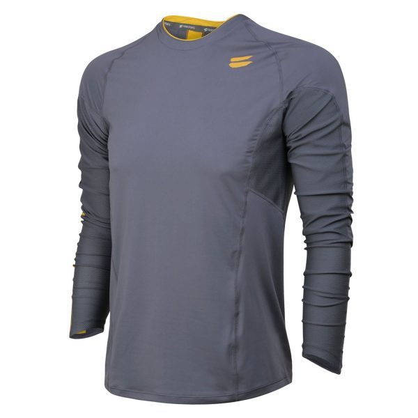 TribeSports Men's L/S Running Top - charcoal