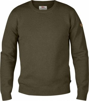 Fjallraven Men's Ovik Crew Neck - Dark olive