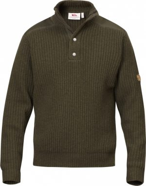 Fjallraven Men's Varmland t-neck Sweater - Dark olive