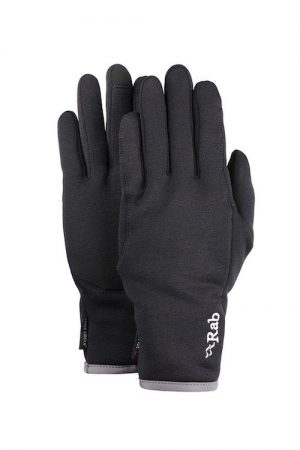 Rab Mens Power stretch Contact Glove - black