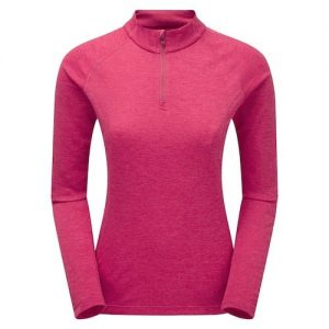 Montane Women's Dart Zip Neck - french berry