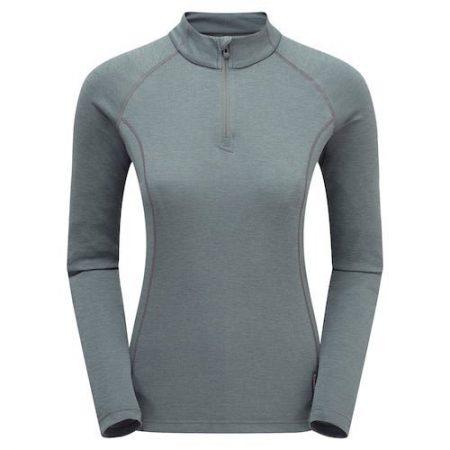 Montane Women's Dart Zip Neck - stratus grey