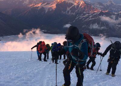 Summit night on Elbrus 2018