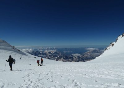 On the Elbrus saddle