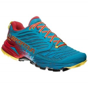 La Sportiva Trail Running Shoe - Tropic Blue Cardinal Red